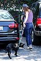 kristen stewart bra revealing walk with new puppy 27