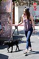 kristen stewart bra revealing walk with new puppy 31