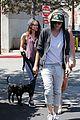 kristen stewart bra revealing walk with new puppy 32