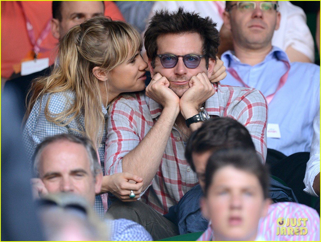 suki waterhouse kisses bradley cooper at wimbledon 02