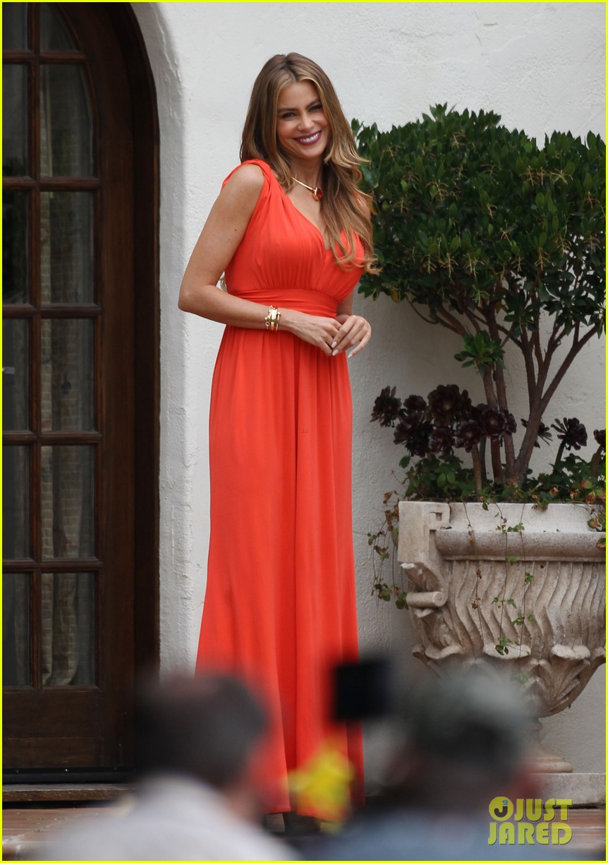 sofia vergara works with a smile on her birthday 06