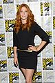 mike vogel rachelle lefevre under the dome at comic con 10
