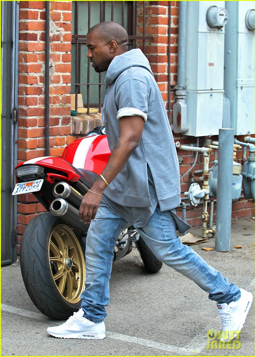 kanye west shops for furniture reportedly naps with north 09
