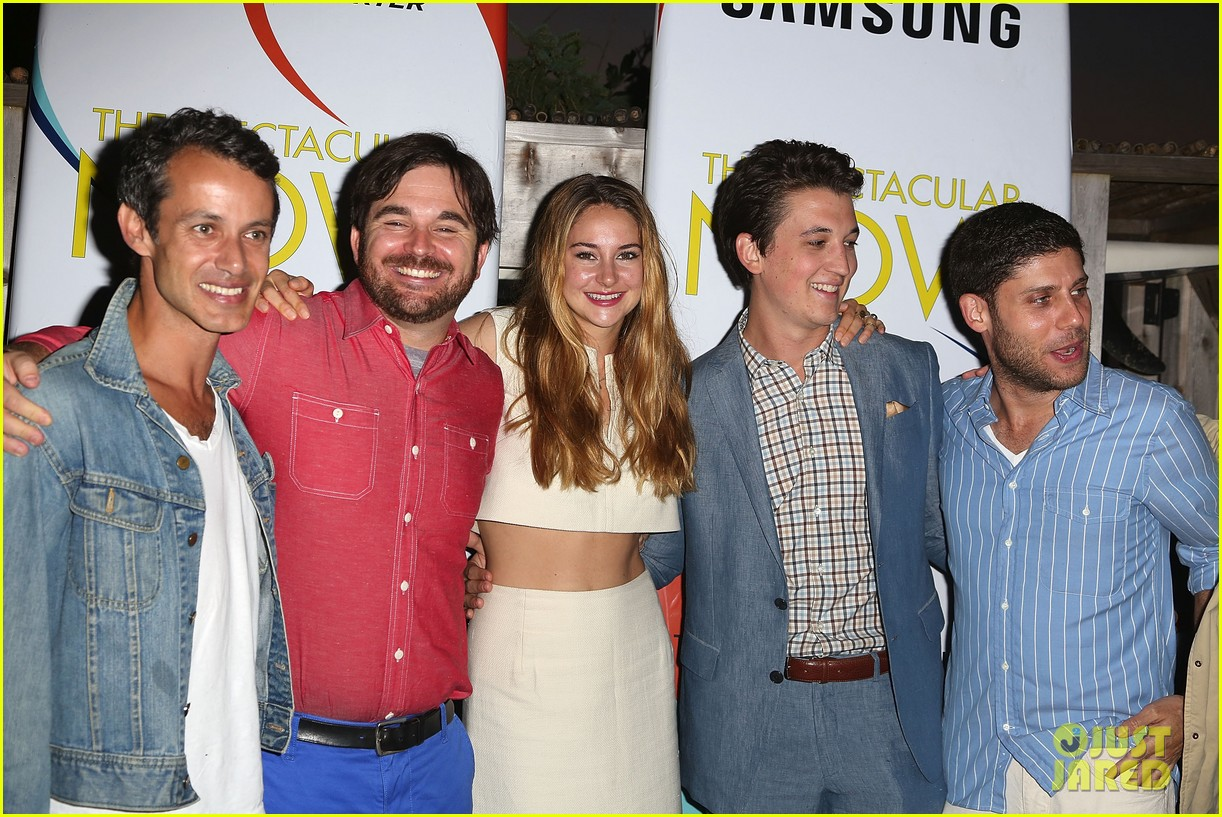 shailene woodley miles teller spectacular now hamptons screening 06