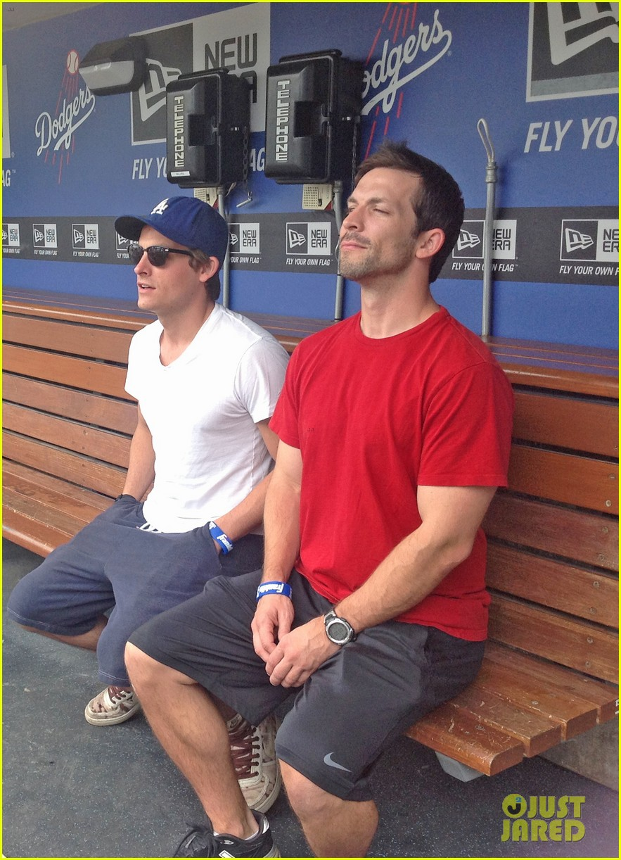 kevin zegers dylan obrien dodgers baseball clinic 012917656