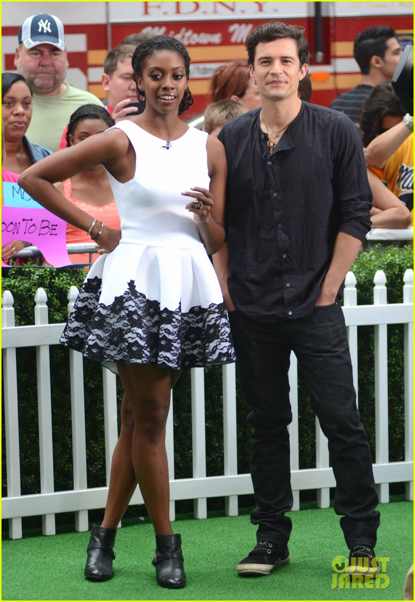 orlando bloom condola rashad romeo juliet promo on gma 01