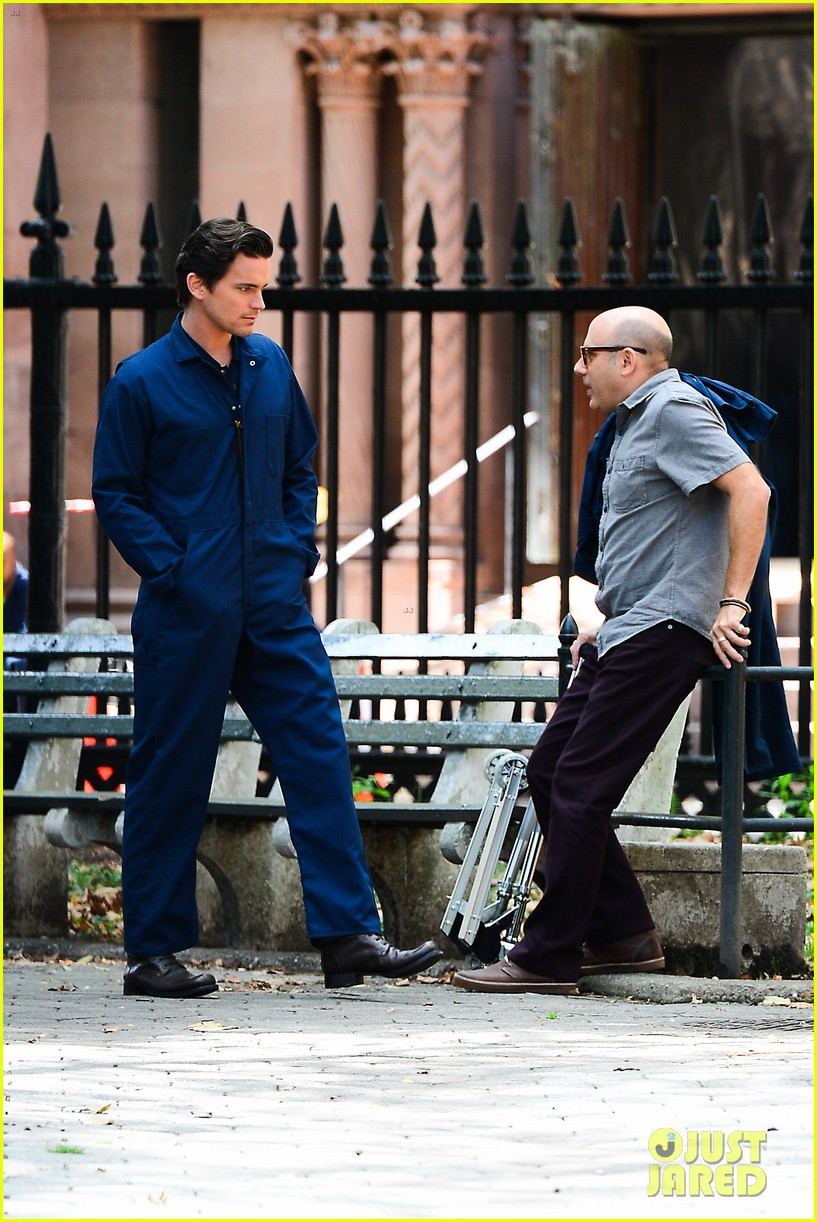 matt bomer wears jumpsuit plays with puppy 012930910