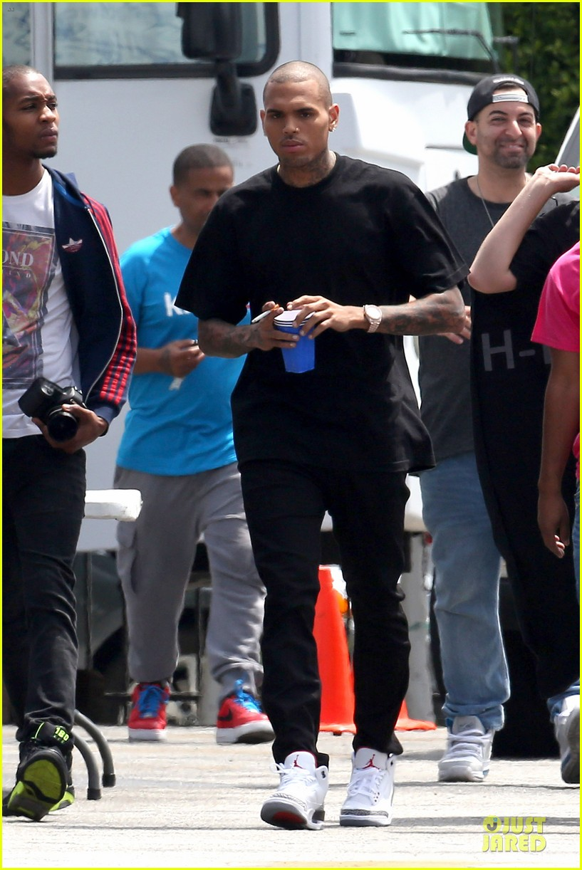 chris brown shoots love more music video 162922581