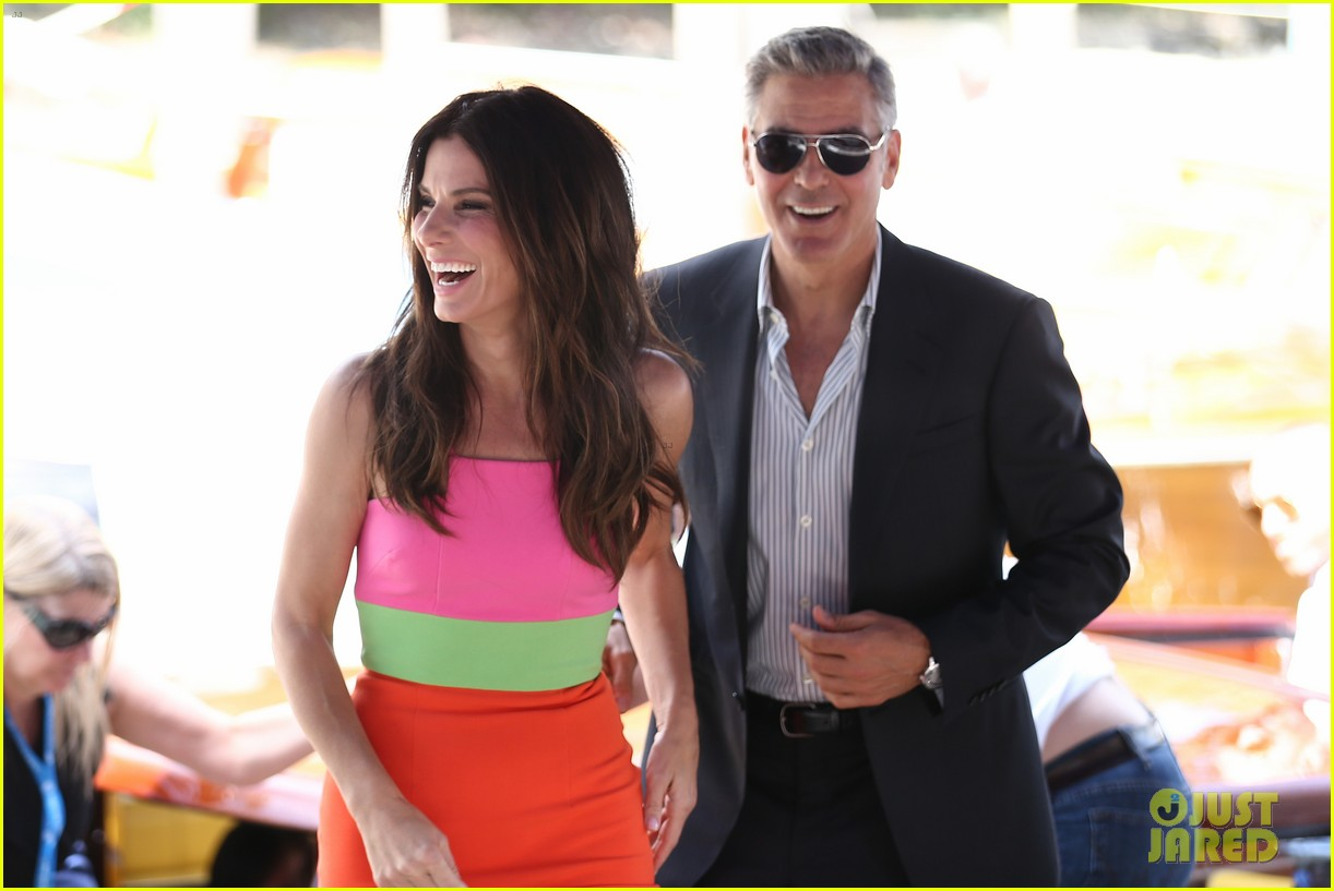 sandra bullock george clooney gravity venice photo call 06