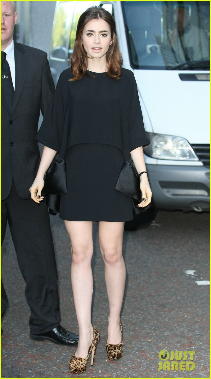 lily collins jamie campbell bower itv studios visit 14