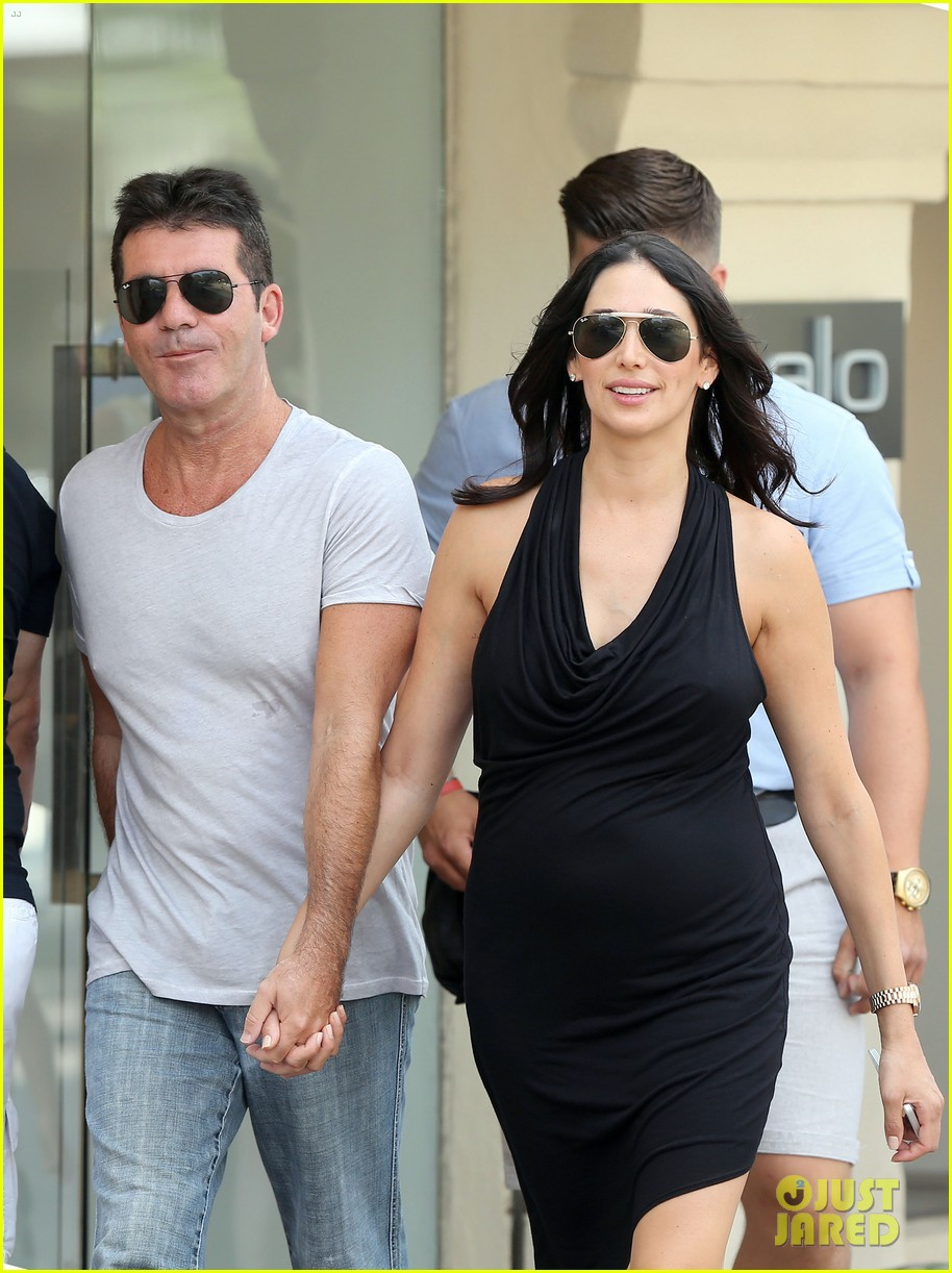 simon cowell lauren silverman hold hands in st tropez 08