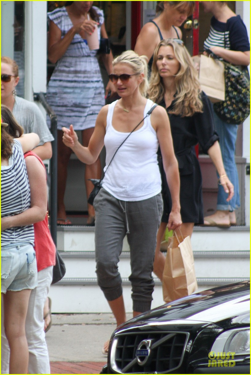 cameron diaz shows toned arms for friends gathering 04