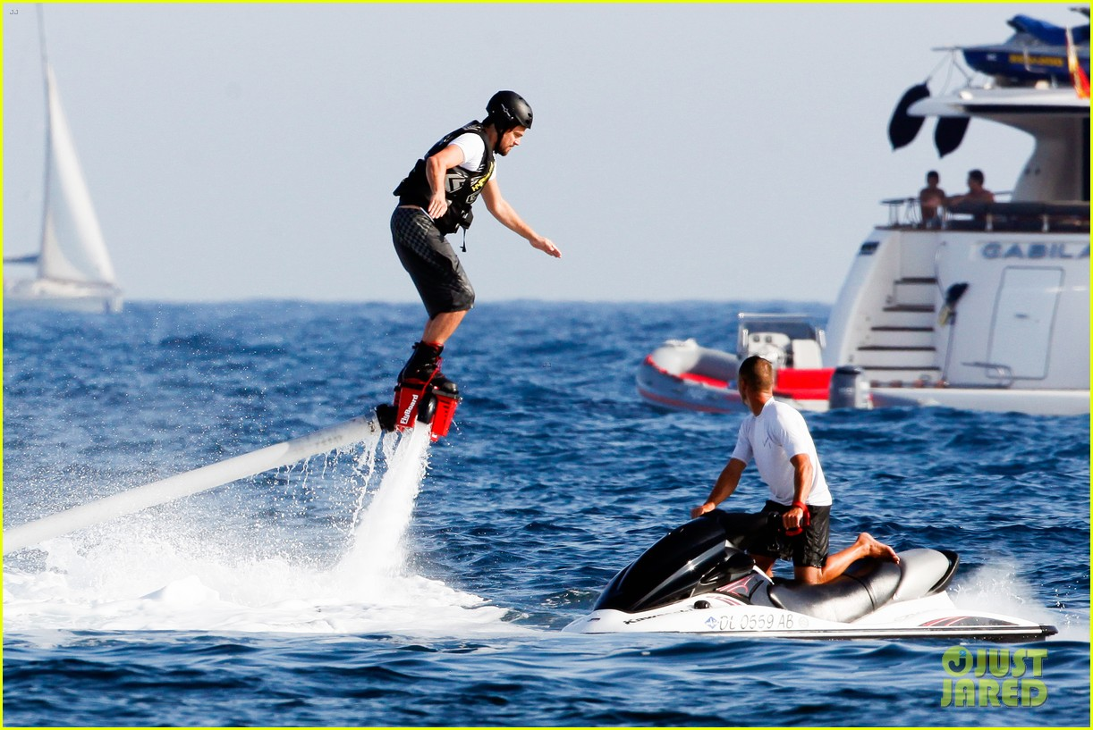 leonardo dicaprio goes shirtless after flyboarding in ibiza 072925561
