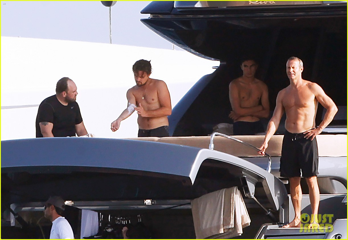 leonardo dicaprio goes shirtless after flyboarding in ibiza 08