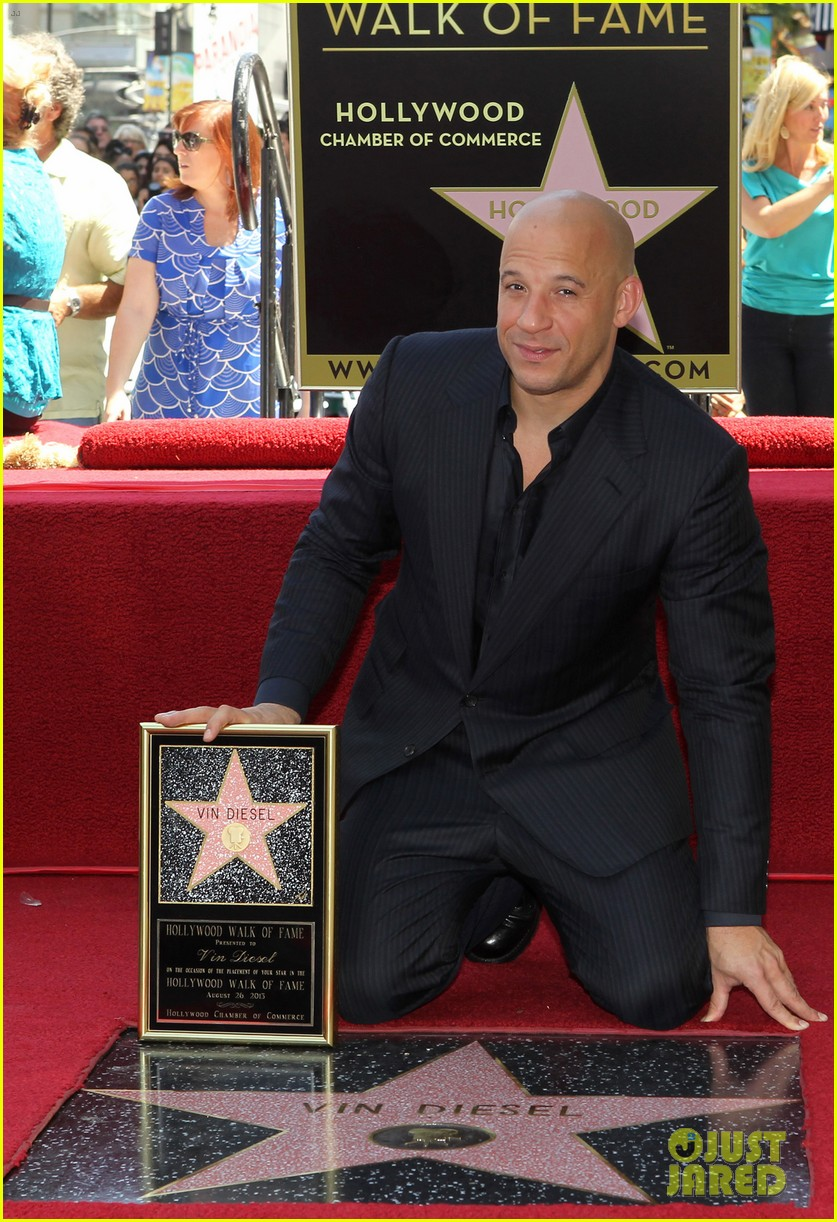 vin diesel hollywood walk of fame with his leading ladies 05