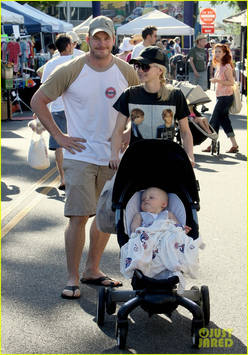 anna faris chris pratt celebrate son jack first birthday 012938417