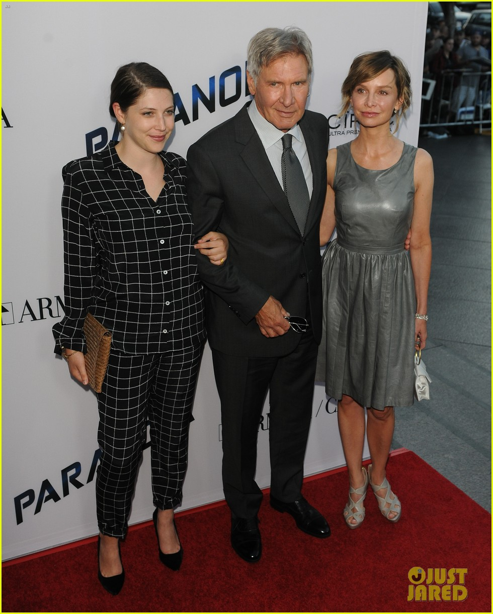 harrison ford paranoia premiere with calista flockhart 202926440