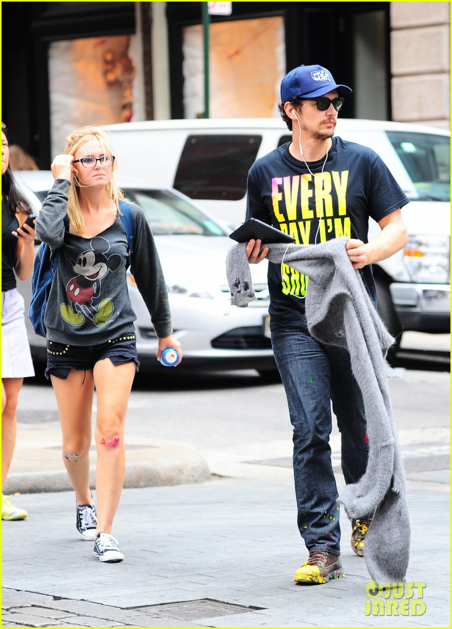 james franco plays with paint in new york city 06