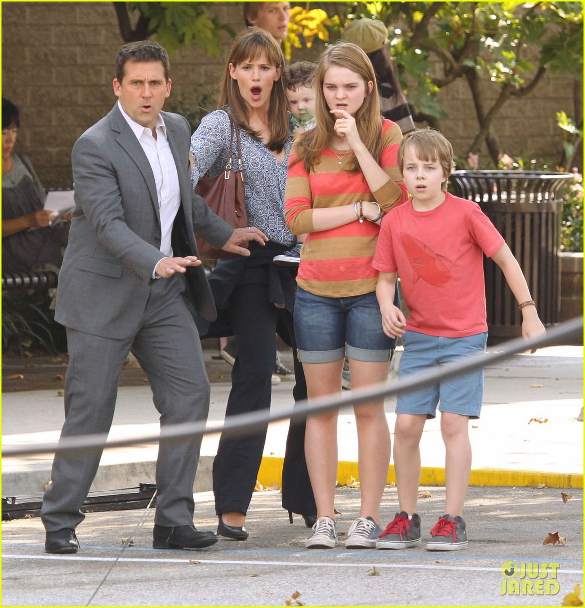 jennifer garner steve carell family freakout for alexander 182938756