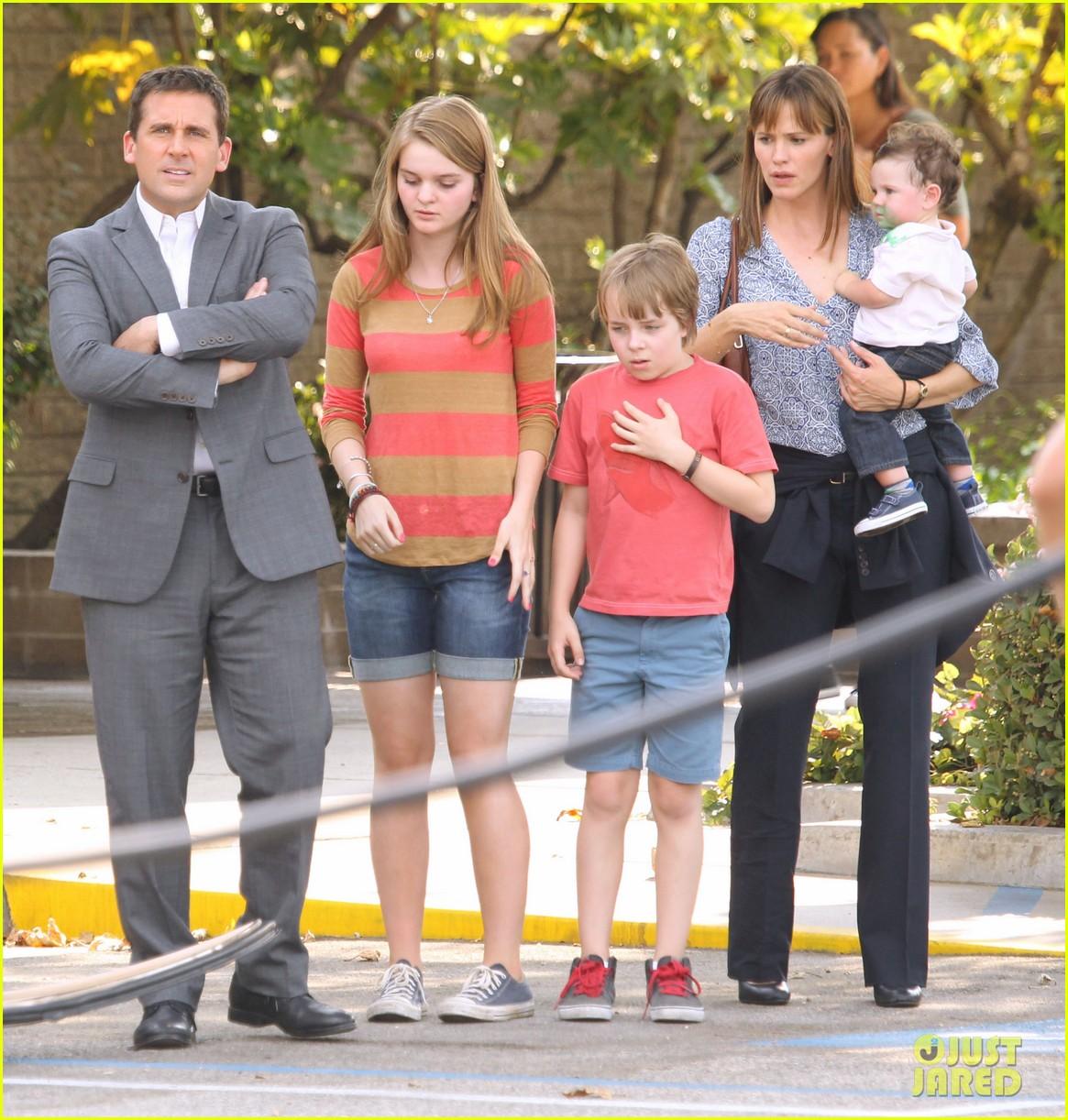 jennifer garner steve carell family freakout for alexander 242938762
