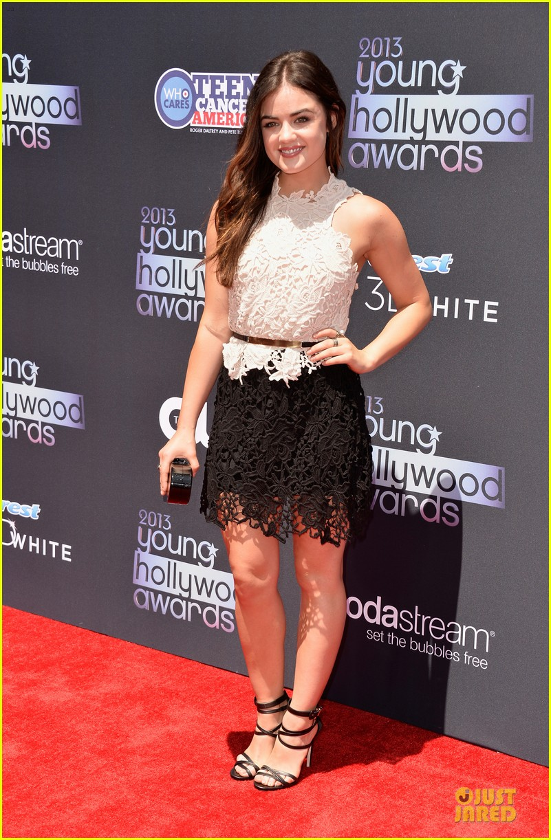 lucy hale young hollywood awards 2013 red carpet 012921714