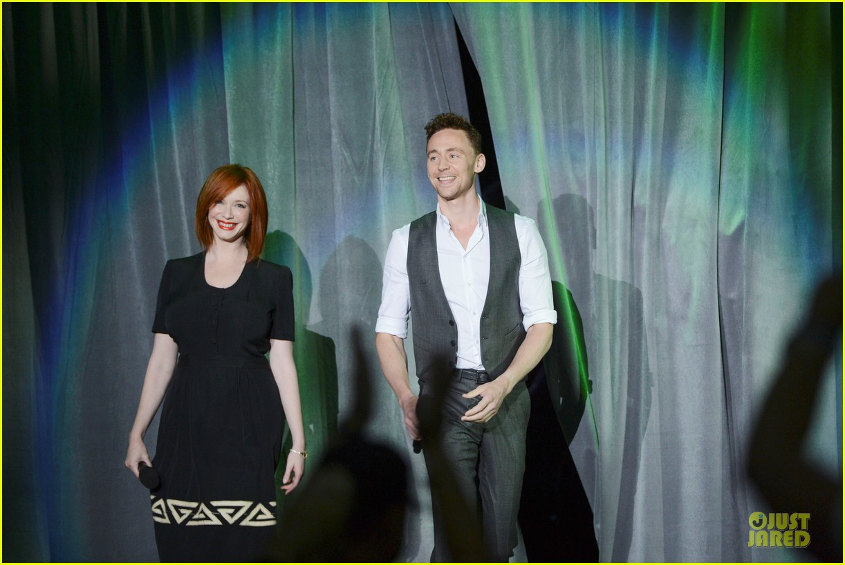 tom hiddletston christina hendricks the pirate fairy at disney d23 expo 11