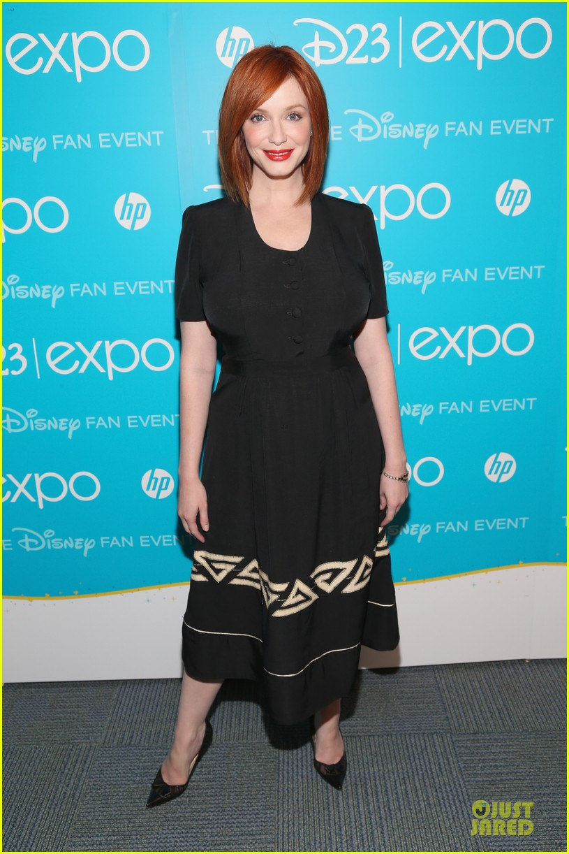 tom hiddletston christina hendricks the pirate fairy at disney d23 expo 302926965