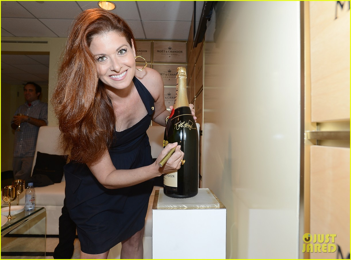 megan hilty debra messing smash reunion at us open 20