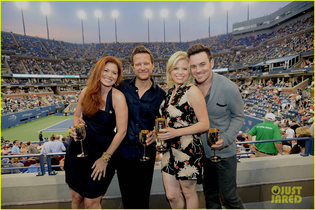 megan hilty debra messing smash reunion at us open 212941051