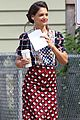katie holmes drives vintage car for miss meadows 02