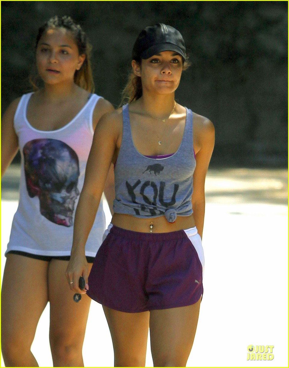 vanessa hudgens shows pierced belly button for hike 17