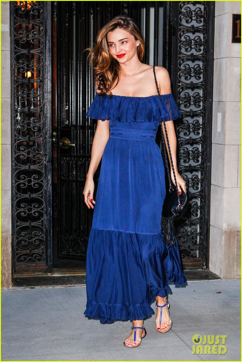 miranda kerr blue bombshell in new york city 05