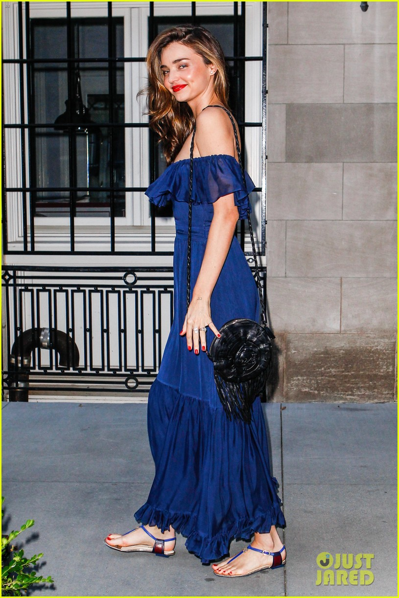 miranda kerr blue bombshell in new york city 092937028