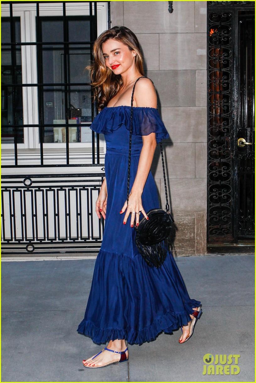 miranda kerr blue bombshell in new york city 11