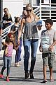 heidi klum martin kirsten beach bike ride with kids 16
