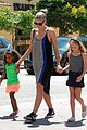 heidi klum martin kirsten beach bike ride with kids 26