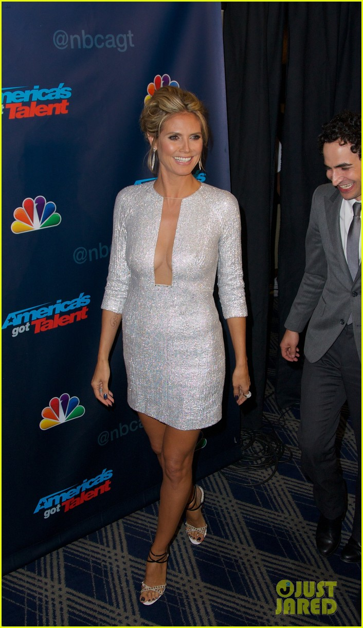 heidi klum project runway visit at america's got talent 072935311