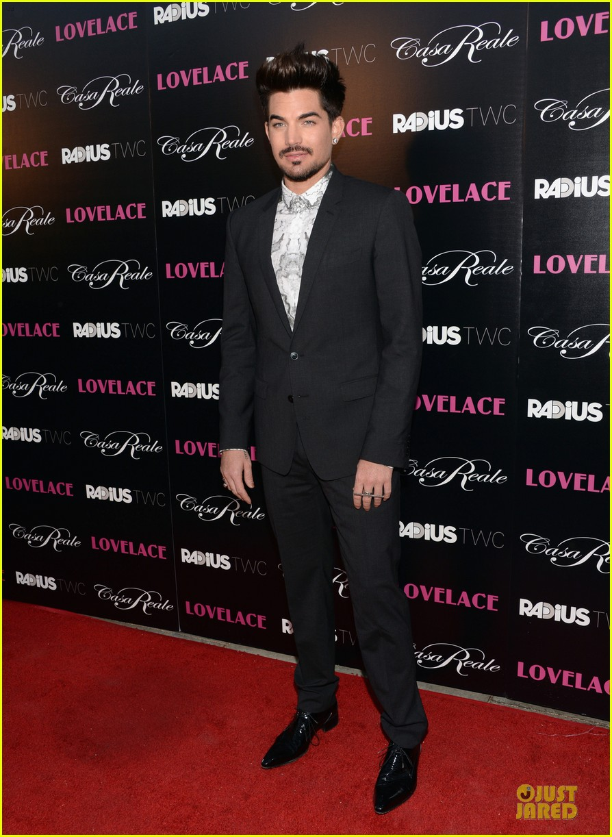 adam lambert lovelace hollywood premiere 012924660