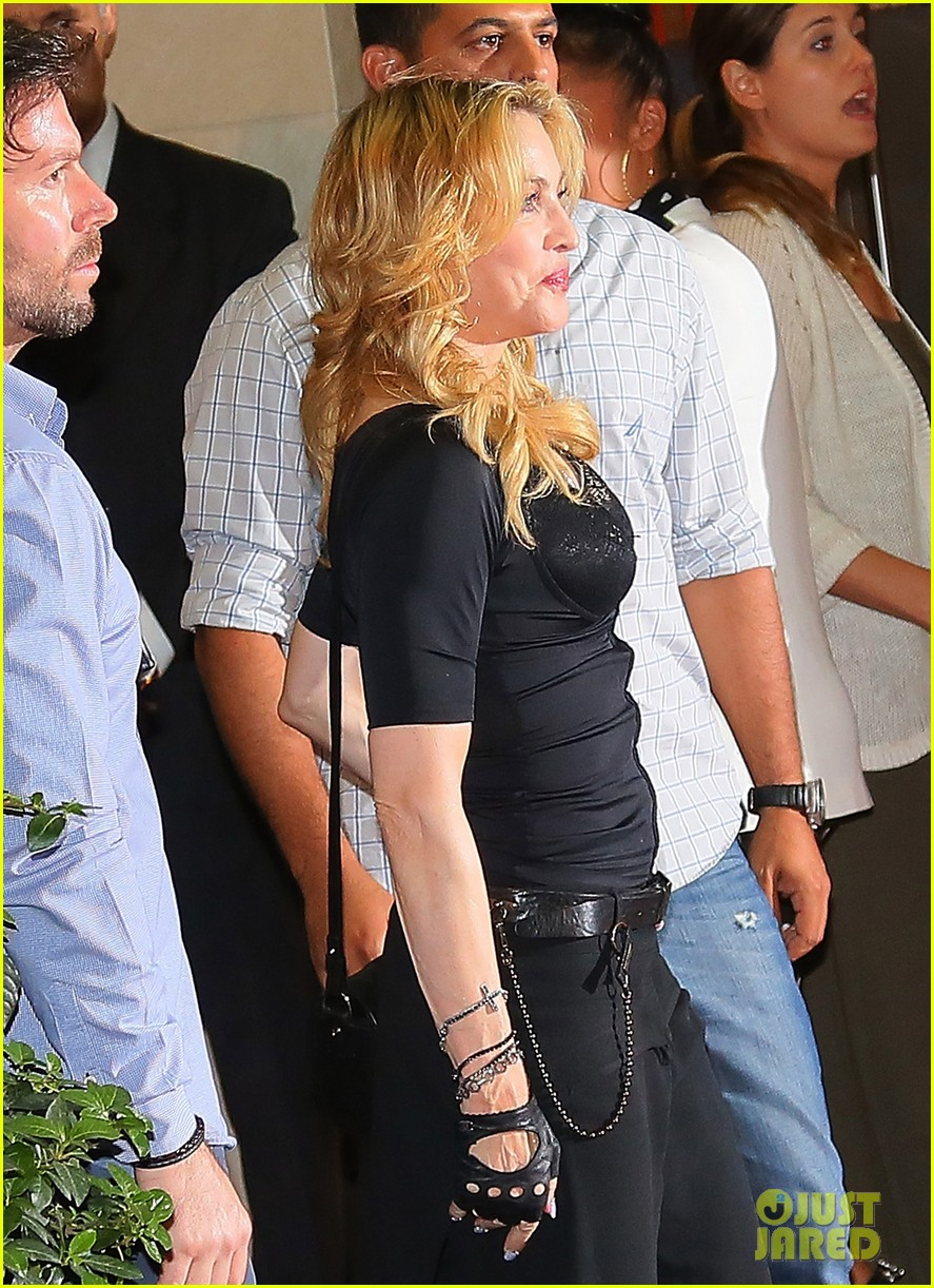 madonna rocks gold grills at the hard candy fitness center 042935297