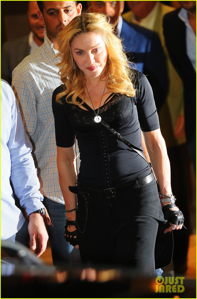 madonna rocks gold grills at the hard candy fitness center 052935298
