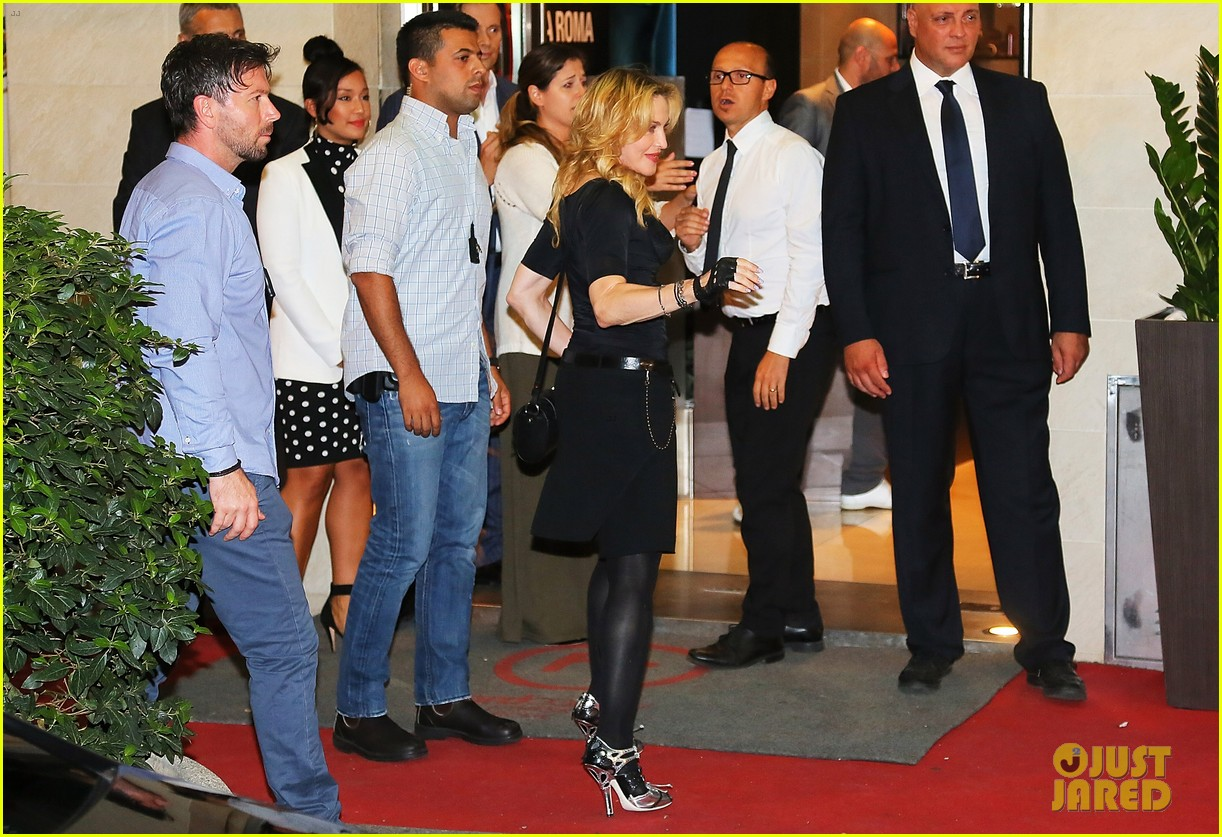 madonna rocks gold grills at the hard candy fitness center 072935300