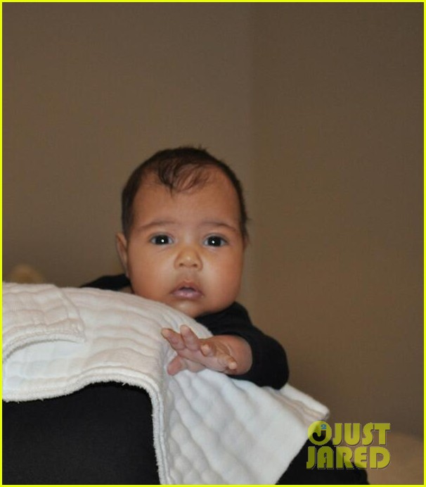 north west photo kim kardashian kanye west baby pic 02