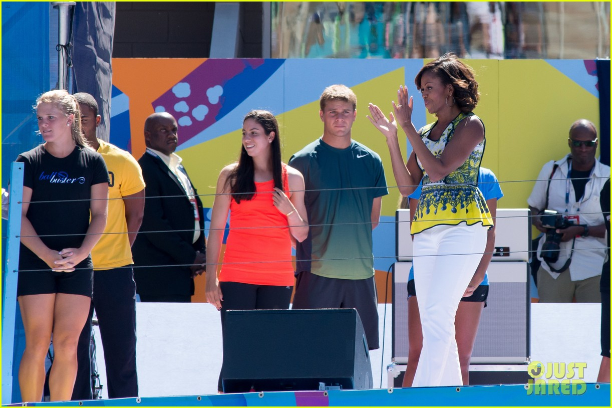 michelle obama ariana grande arthur ashe kids day 2013 26