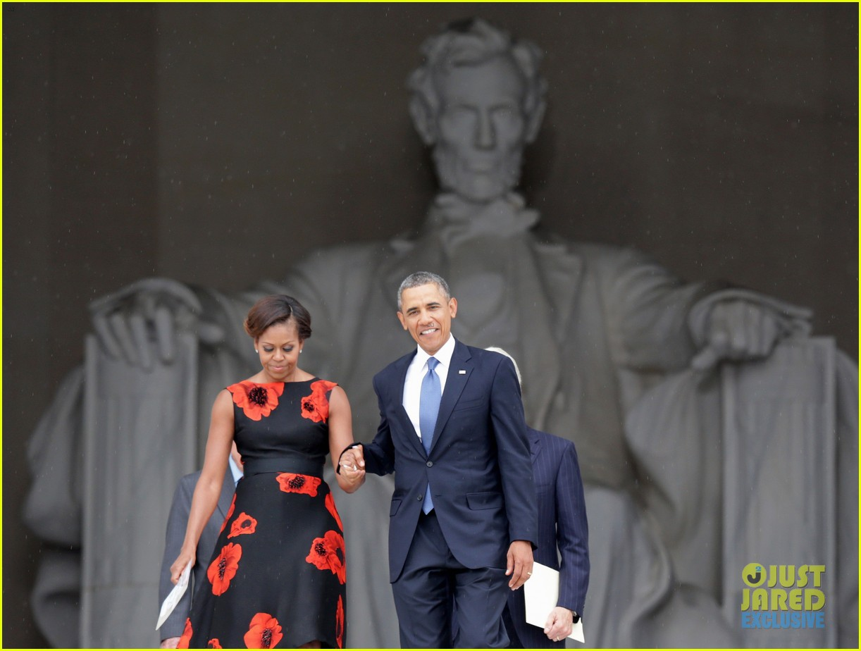 barack michelle obama mark 50 years of i have a dream 13