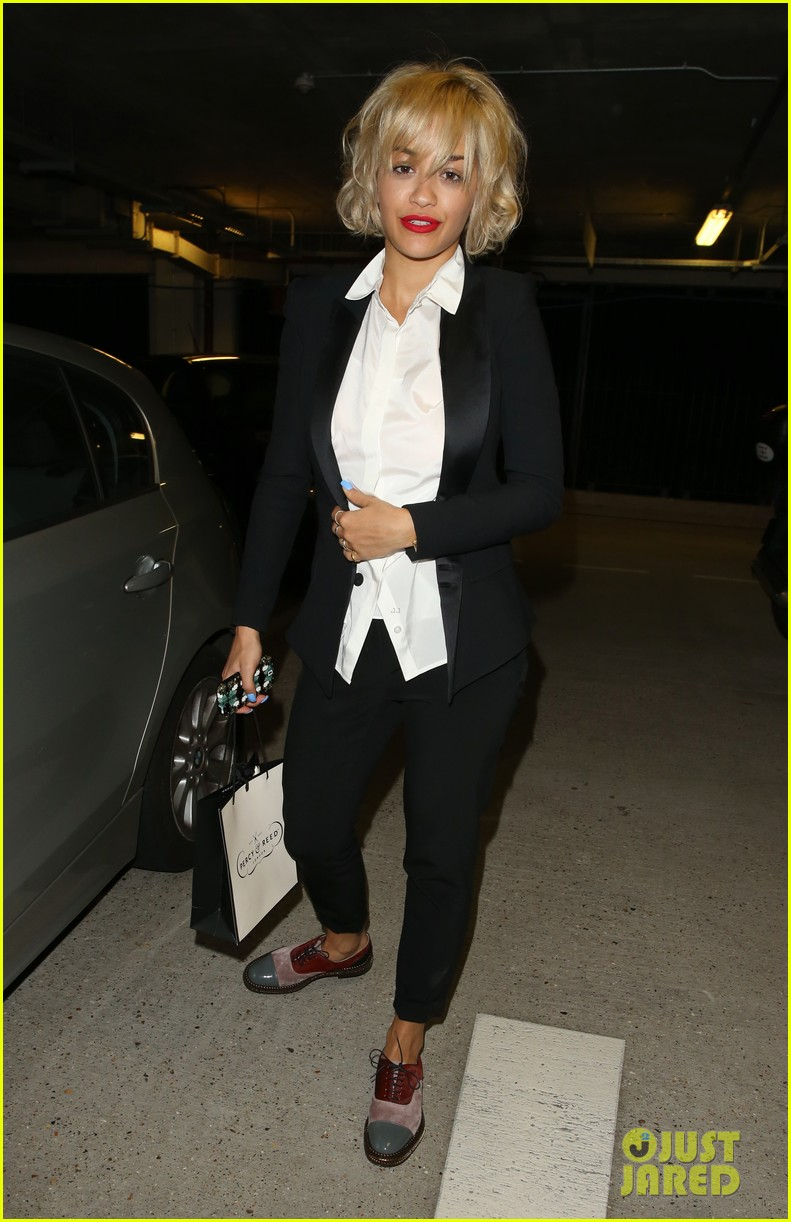 rita ora shows off new short hairdo at percy reed salon 14