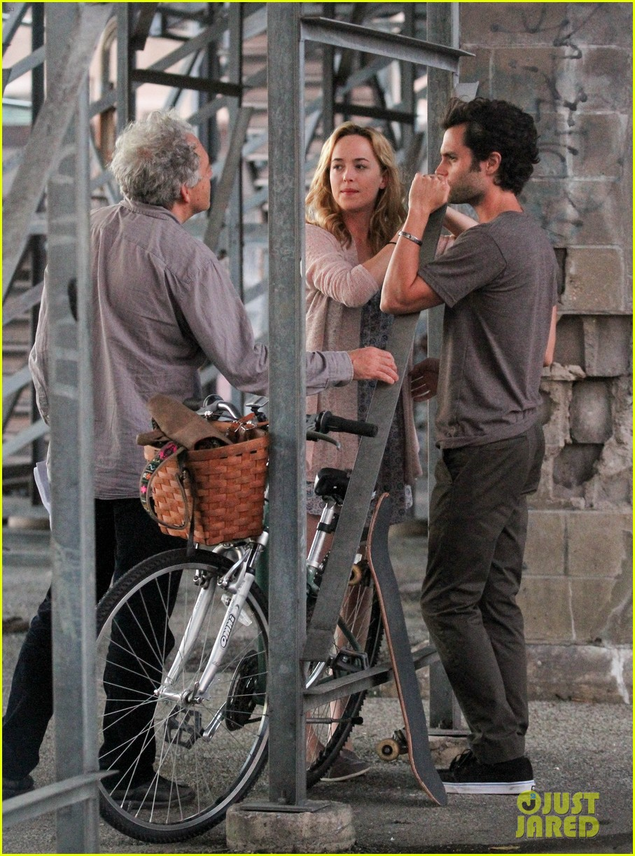 penn badgley cymbeline filming with dakota johnson 04
