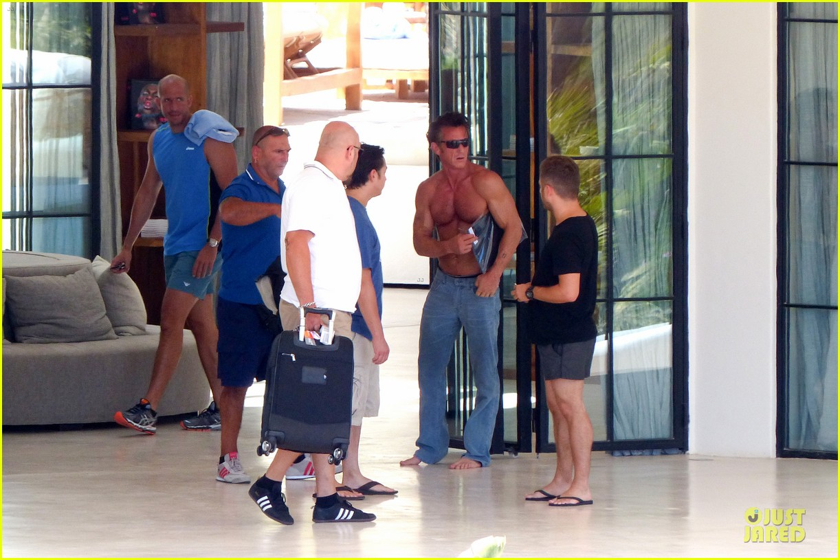 sean penn shirtless ripped on ibiza vacation 05