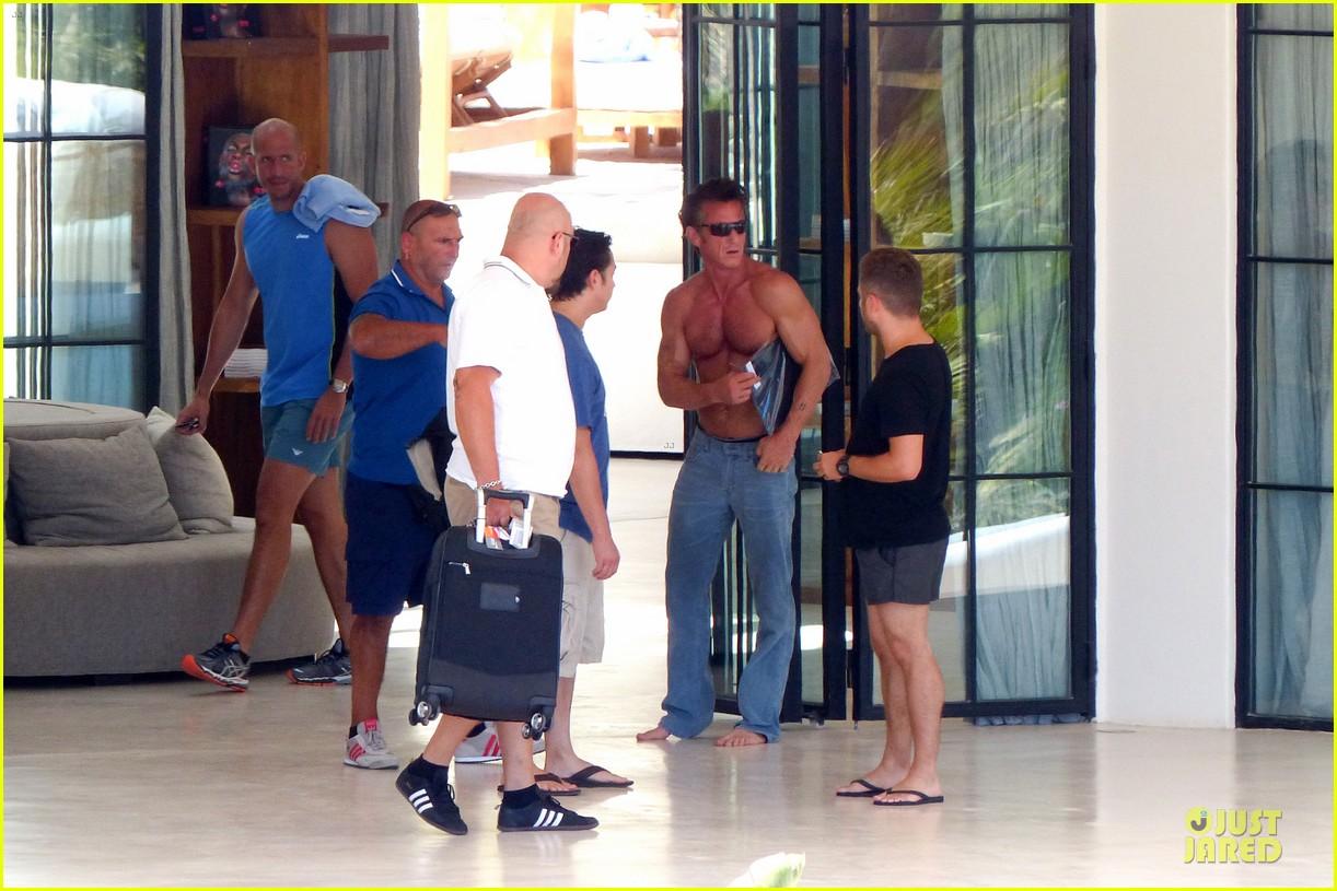 sean penn shirtless ripped on ibiza vacation 052928331