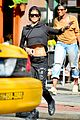 rihanna hails a cab in new york city 08