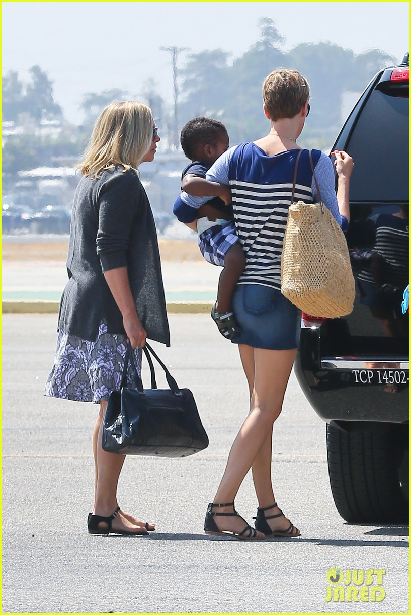 charlize theron jackson depart in los angeles together 12